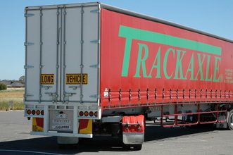 Trackaxle long trailers show operators how to improve access through PBS standards. Trackaxle has products to resolve issues on both the swept path and ...